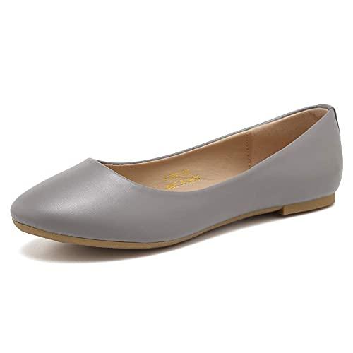 CIOR Women BalletFlats Classy Simple Casual Slip-on Comfort Walking Shoes Size: 8 UK