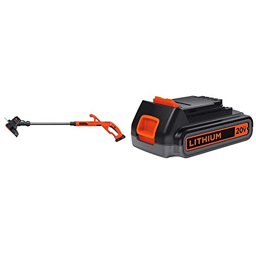 Purchase BLACK+DECKER 20V MAX String Trimmer/Edger Kit with Extra Lithium Battery 2.0 Amp Hour (LST2...