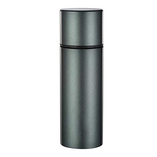 Botella de agua de acero inoxidable, 200 ml, gran capacidad, portátil, antibacteriana, a prueba de fugas.