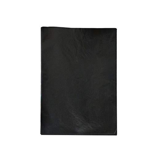 Lomsarsh Papel de copia, 50 hojas Papel de copia de carbón negro para mano, máquinas de escribir y procesadores de texto - Papel de calco de papel de transferencia negro para calcar en madera, Acceso
