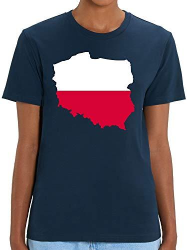 Bio-Shirt Länder - Polen - Polska - T-Shirt für Sport, Urlaub und Fans - Printed In Germany – 100% Bio-Baumwolle