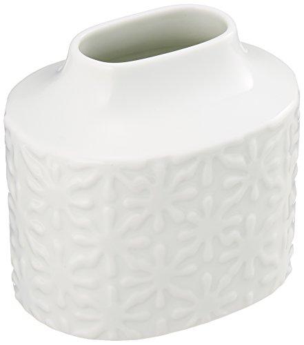 白山陶器 スノーフラワーベース(大) 白 (約)11×8×10.5cm 波佐見焼 日本製