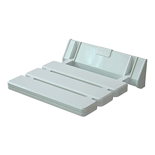 Asiento de ducha plegable, asiento de ducha montado en la pared, banco de baño de hoja abatible que ahorra espacio, silla de ducha de baño antideslizante blanca para personas mayores y con movilidad l 🔥