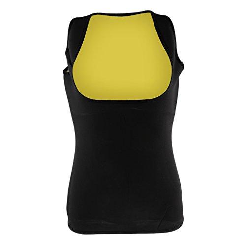 Sharplace Débardeur Minceur Vêtements de Sudation Femme Gilet de Compression en Néoprène à Perte de Poids - Idéal pour Sports et Travail - XL