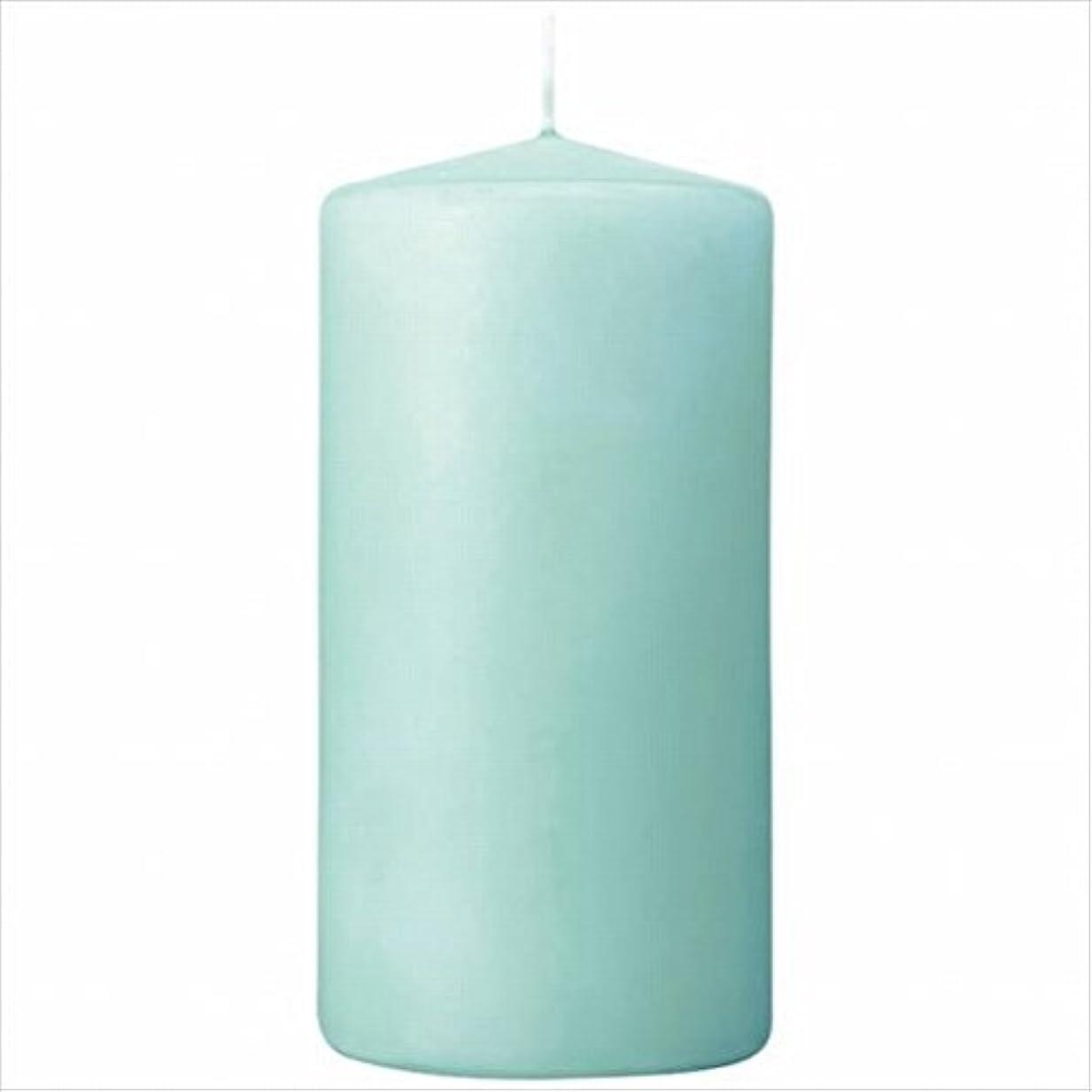 生活グリーンバック正当化するカメヤマキャンドル(kameyama candle) 3×6ベルトップピラーキャンドル 「 ライトブルー 」