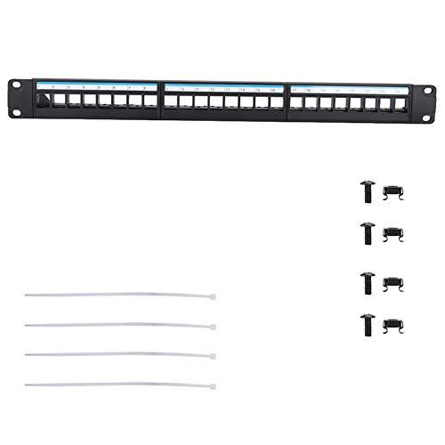 Socobeta Pratico Rack per Cavi di Rete da 19 Pollici montabile ordinatamente organizzato Pannello Patch Dati di Lavorazione fine al 100% per apparecchiature modulari