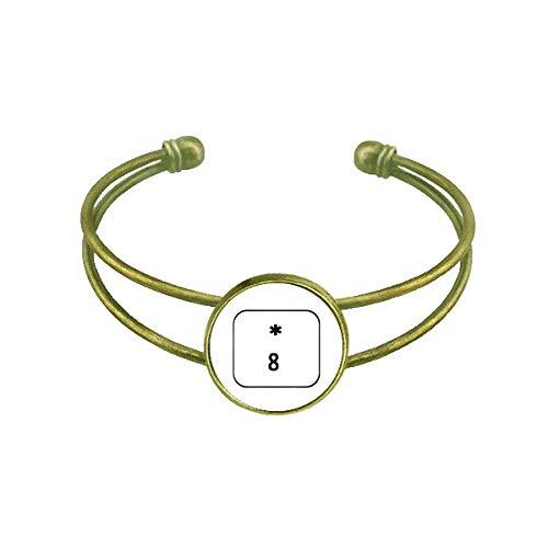 DIYthinker Keyboard-Symbol 8 Art Deco Geschenk Mode Armband Armreif Retro Open Cuff Schmuck