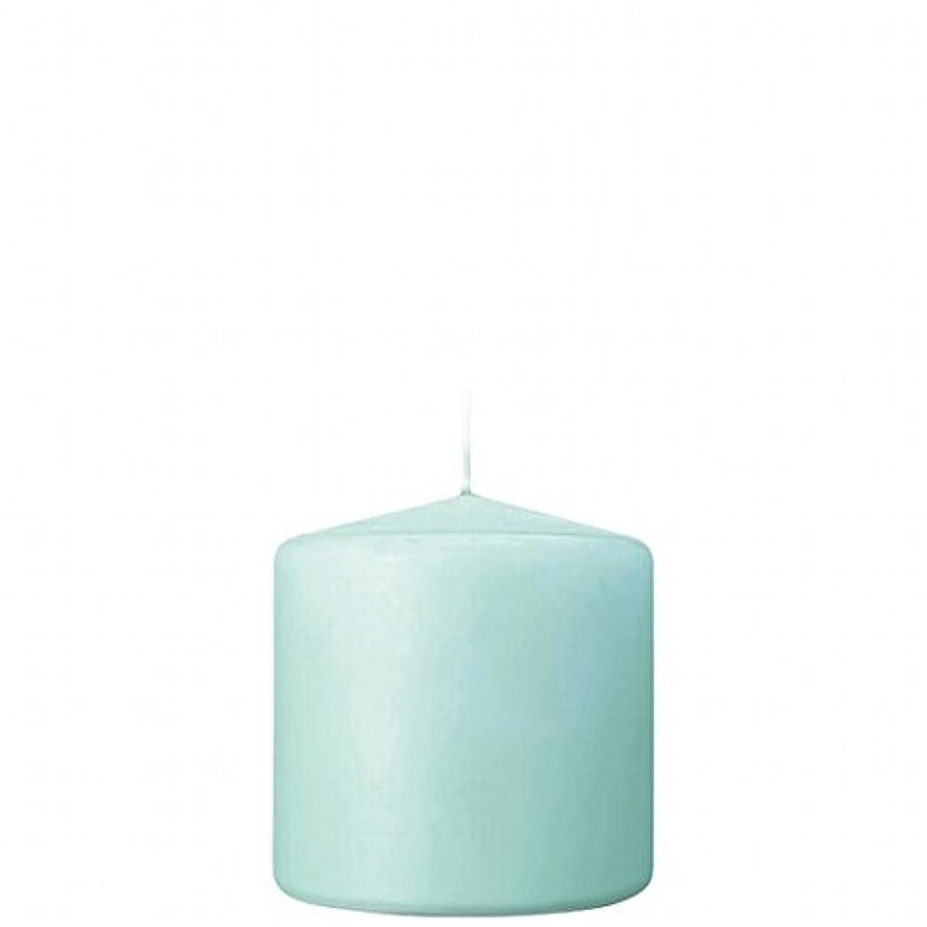 タイト笑私達カメヤマキャンドル(kameyama candle) 3×3ベルトップピラーキャンドル 「 ライトブルー 」