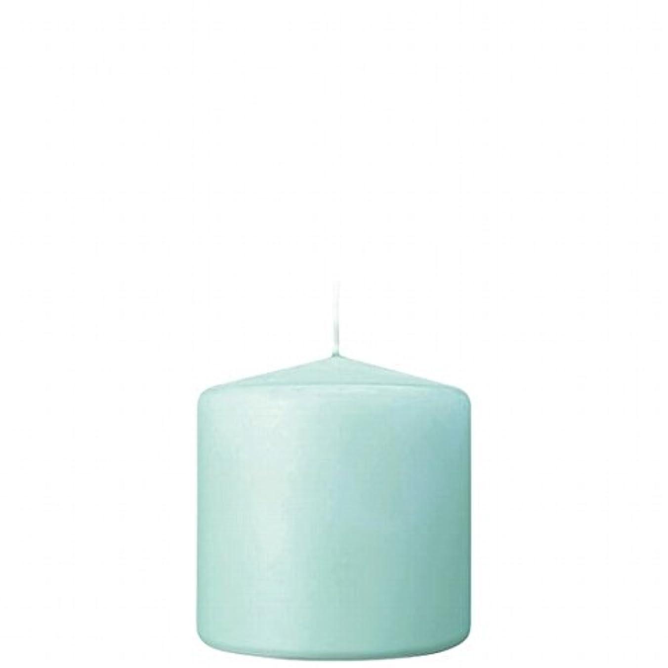 意志に反するさておき操作可能カメヤマキャンドル(kameyama candle) 3×3ベルトップピラーキャンドル 「 ライトブルー 」