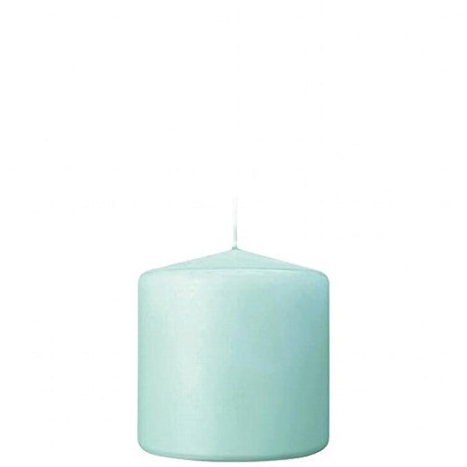 些細支店アマゾンジャングルカメヤマキャンドル(kameyama candle) 3×3ベルトップピラーキャンドル 「 ライトブルー 」