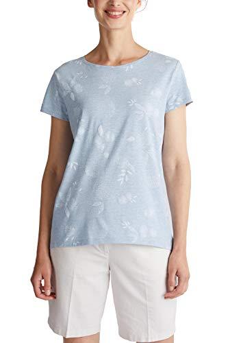 Esprit Damen 040EE1K397 T-Shirt, 440/LIGHT Blue, S