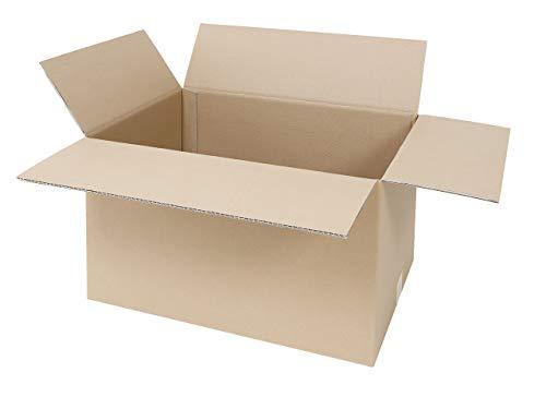 5 Faltkartons 600 x 400 x 400 mm   großer Versandkarton geeignet für DHL   2-wellige BC-Welle   5-100 Kartons wählbar