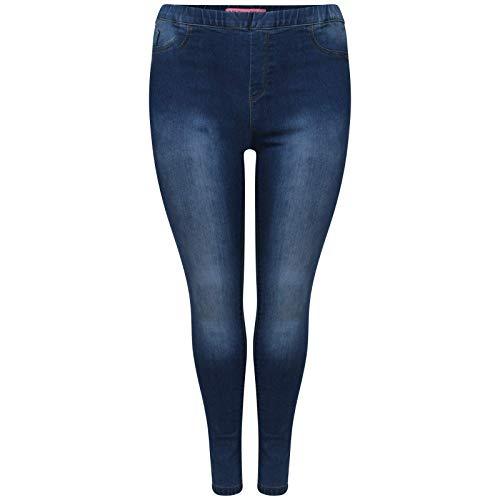 Dames Vrouwen Plus Size Slim Skinny fit Stretch Denim Jegging Legging UK Plus maten 16 tot 26