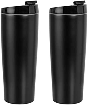 2-Pack Amazon Basics Stainless Steel Tumbler With Flip Lid