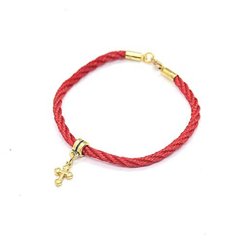 Pulsera Cruzada Trenzada Cadena De Cuerda Roja Tejida A Mano Mini La Estrella De David Palm Pulseras Cruzadas De Jerusalén Para Mujeres Joyería De Oración Religiosa
