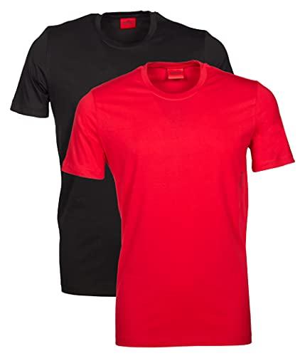 HUGO Herren RN 2er Pack T-Shirt, Open Red643, M