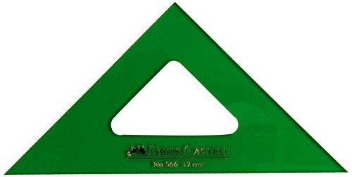 Faber-Castell 566 - Escuadra de 12 cm, color verde