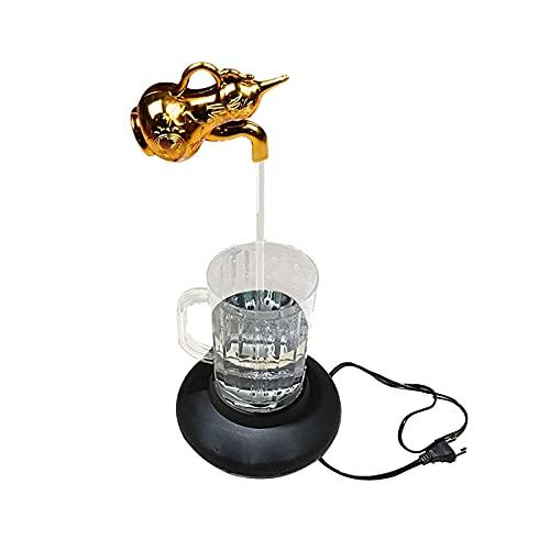 LULE Grifo LED de riego de grifo, lámpara de agua suspendida de grifo flotante, fuente de agua flotante para decoración en casa oficina