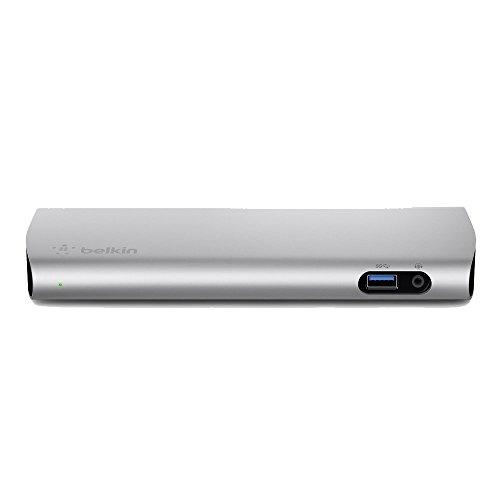 ベルキン USB-C ドッキングステーション Thunderbolt3 Macbook Pro 2016 / 2017対応 85W 給電 ケーブル1m付 Express Dock F4U095JA-A