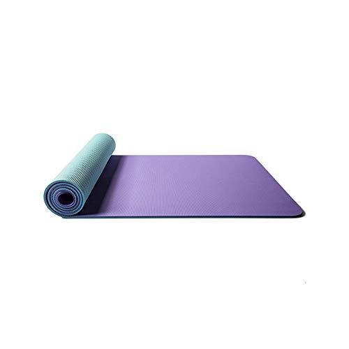 Joycaling - Esterilla de yoga antideslizante para yoga, protección del medio ambiente, material TPE duradero y ligero, 183 x 68 cm de grosor, 8 mm de grosor, color morado, tamaño: 183 x 68 cm