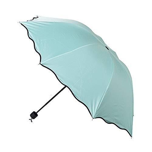 Paraguas a prueba de viento de moda paraguas soleado paraguas compacto lluvia hombres mujeres 10 K sombrilla lluvia parapluie - verde menta, a1