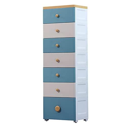 Schubladen-Turmwagen,Lagerturm mit 7 Schubladen, zur Aufbewahrung von Spielzeug, Spielzimmer und Schlafzimmer/B / 40x30x123cm