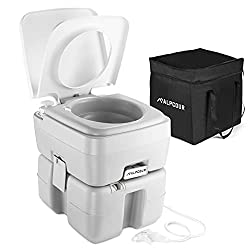 cheap Alpcool Portable Toilet-Compact indoor and outdoor drawers with travel bags for camping, mobile homes, boats and more