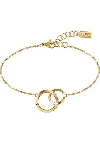 Hugo Boss Damen-Armband Edelstahl Swarovski-Kristall One Size Gelbgold 32014512