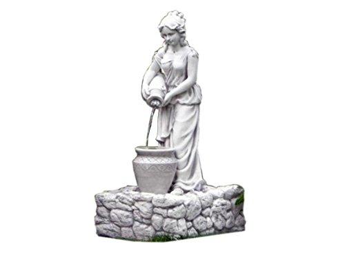 Antikes Wohndesign Steinbrunnen Krugfrau Frau mit Krug Springbrunnen Brunnen Kaskadenbrunnen Zierbrunnen Beckenbrunnen Wasserspiel Gartenbrunnen 114KG