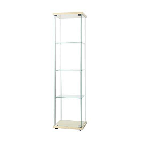 Huimei2Y コレクションケース 強化ガラスキャビネット 4段セット フィギュアケース 高さ163cm ナチュラル