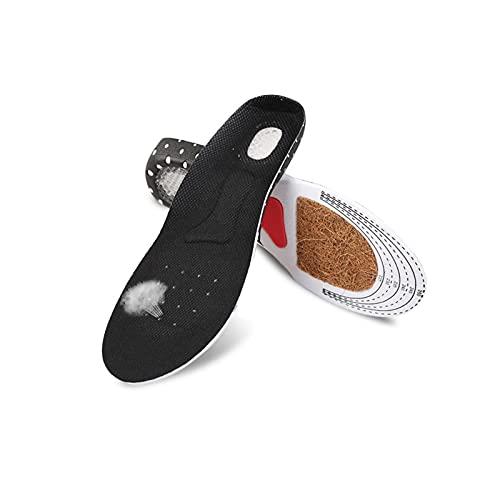 GZSC 2 Pares Coconut Beard Plantilla Unisex Orthotic Arch Support Sport Shoe Pad Sport Running Gel Plantillas de Gel Insertar Cojín para Hombres Mujeres (Color : Black, Shoe Size : 5)