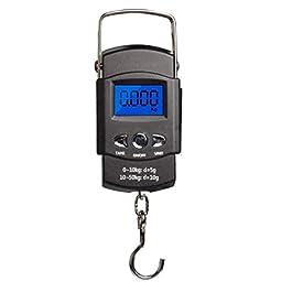 Odoukey Pêche à l'échelle Balance numérique Suspension électronique Suspension LCD Display Crochet extérieur Portable…