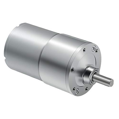 LMioEtool DC Gear Motor, High Torque Reversible Electric Geared Motor - with Eccentric Output Shaft Gearbox (12V/30RPM)