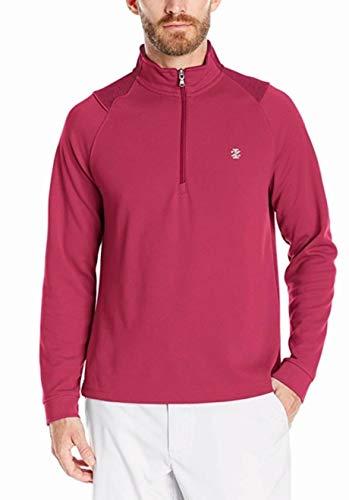 IZOD Men's Performance Golf Champion 1/4 Zip Shirt, Rumba Red, Small