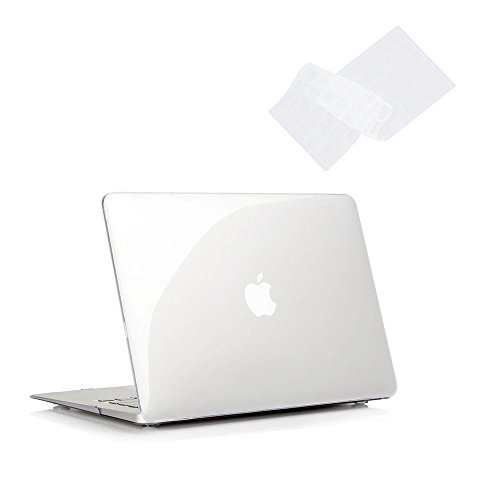 RUBAN Case for MacBook Air 11 Inch Release (A1370/A1465) - Slim Snap On Hard Shell Protective Cover and Keyboard Cover for MacBook Air 11, Crystal Clear