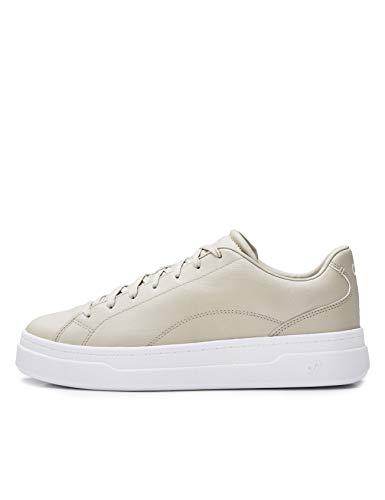 CARE OF by PUMA Damen-Sneaker aus Leder mit Plateausohle, Beige, 38 EU