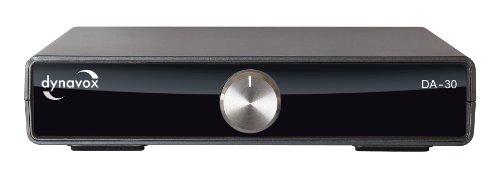 Dynavox DA-30 - Amplificador estéreo digital (control de volumen), negro