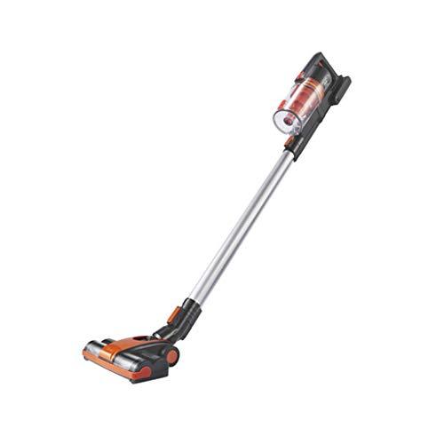 Huishoudelijke stofzuiger/accu-stofzuiger, 100 W hoog vermogen, dubbel gebruik van thuis en auto, 2000 mAh lithium batterij, ergonomische handgreep, met opbergruimte (oranje)