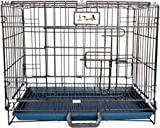 Big &Adult Dog Heavy Duty Dog Crate Strong Metal Large Dog Cage Black Colour 42 INCH 255