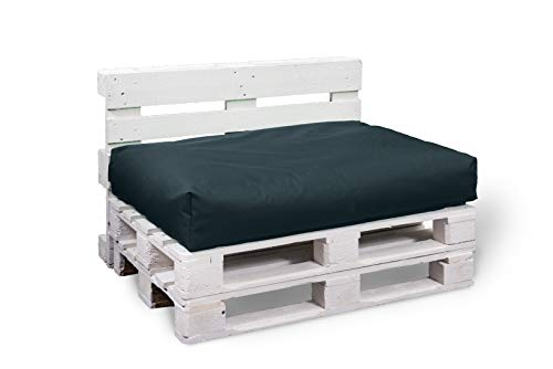 BuBiBag Palettenkissen Sitzkissen Sitzauflage Sitzfläche für In & Outdoor Größe & Farbe auswählbar (80x60x10 cm, schwarz)