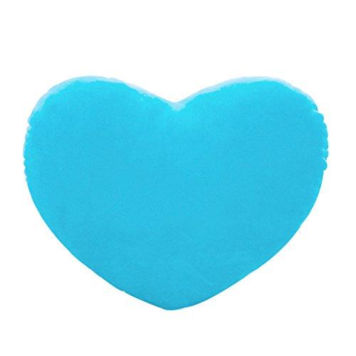 Mentin - Cojín decorativo con forma de corazón, 30 cm, algodón suave, creativo para muñecas, amantes, regalo (color azul)