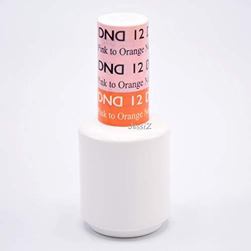DND Daisy Soak Off Gel Mood Change - Light Pink to Orange Nude 12