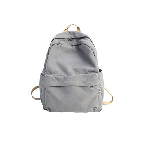 PJY Vrouwen Canvas Rugzak Vrouw Grote capaciteit reistas Student School Bag voor Tiener Meisjes Schoudertassen Dames, grijs, 30cm15cm37cm