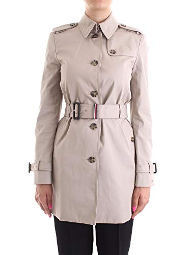 Tommy Hilfiger Heritage Single Breasted Trench Abrigo, Beige (Medium Taupe 055), XS (Talla fabricante: XS) para Mujer
