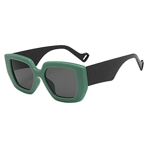 oshhni Gafas de Sol de Gran tamaño Unisex para Mujer UV400 Gafas Retro Gafas de Sol Antideslizantes Gafas - Verde