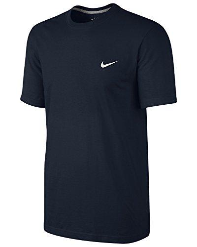 Nike Swoosh T-Shirt Homme Dark Obsidian/Dark Grey Heather/White FR : S (Taille Fabricant : S)