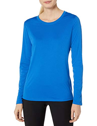 commercial Hanes Sport Cool Dri Performance Women's Long Sleeve T-shirt – Awesome Blue Plus Size moisture wicking shirts