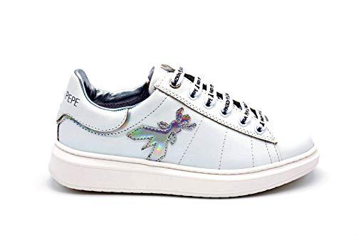 Patrizia pepe - alicia 90 sneaker mit animaliere ferse - 31 - bianco