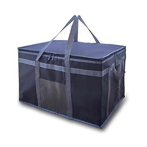 Bolsa aislada de entrega de alimentos Xxxl1, bolsa plegable para suministros de catering, bolsa de picnic reutilizable, para mantener los alimentos calientes o fríos, bolsa de aislamiento de alimentos para Uber Eats y Doordash entrega de alimentos