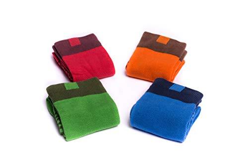 OfficePunk - Calze - Uomo Multicolore Blau, Rot, Grün, Orange 40-45